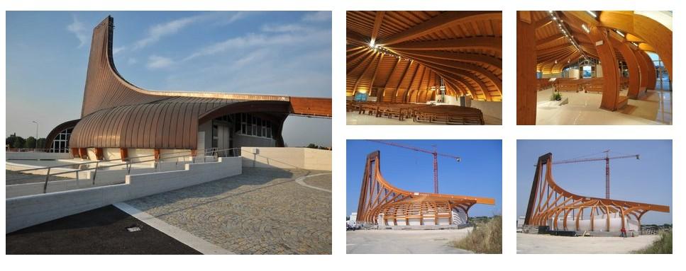 San Pio, la struttura lamellare