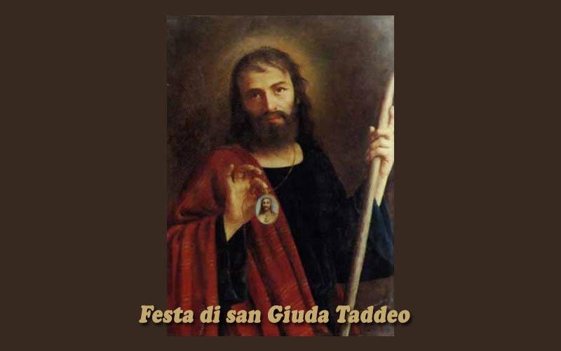 Domenica 30 Ottobre – Festa di San Giuda Taddeo
