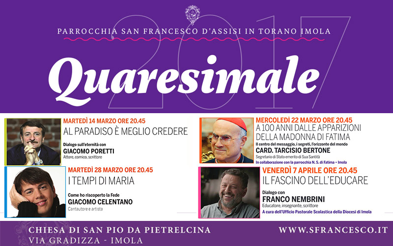 Programma Quaresimali 2017