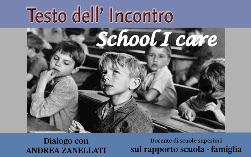 Testo dell'Incontro – School I Care