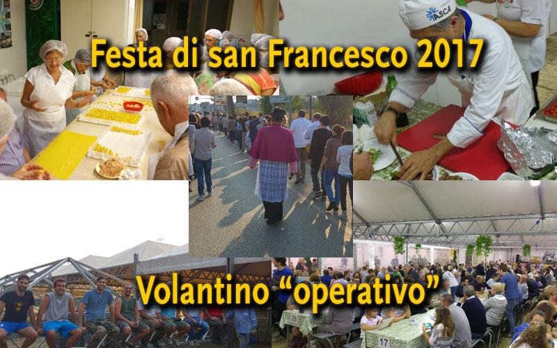 Festa di san Francesco 2017 – Volantino
