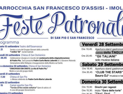 Programma della Festa di San Francesco 2018