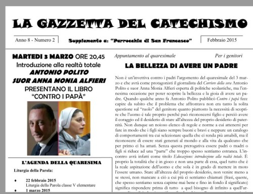Gazzetta del Catechismo – Quaresima 2015