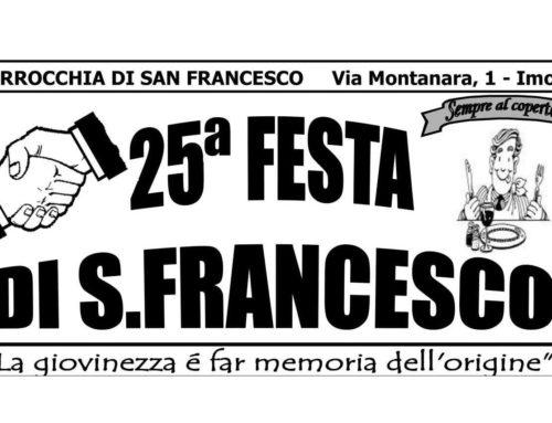Programma ricreativo della festa di S. Francesco 2018